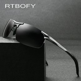 58794dd0387c3 RTBOFY Polarized Men s Sunglasses Aluminum Magnesium Frame Car Driving  Sunglasses Men Sports for Fishing Golf UV400 Eyewear