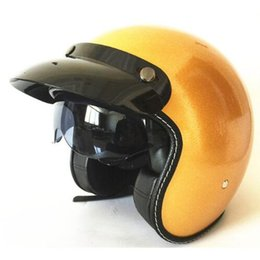 Xxl Motorcycle Half Helmets Australia - Adult Open Face Half Leather Helmet Harley Moto Motorcycle Helmet vintage Motorbike Vespa Casque Black leather H
