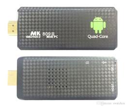 Android Hdmi Usb Tv Stick NZ - 1PCS MK809 Quad Core TV Box Stick Media Player Google Android RK3229 2GB RAM 8GB HDMI Smart TV Dongle 1200+ live tv 1000+ VOD