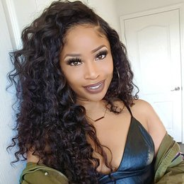 $enCountryForm.capitalKeyWord NZ - 8A Kinky Curly Lace Front Wig unprocessed Brazilian Virgin Human Hair Full Lace Wigs for Women baby hair Natural Color