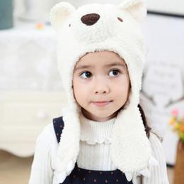 2ead312c9463e3 Winter Warm Baby Beanies Children Cartoon Bear Plush Hats Boys Girls Babies  Kids Earmuffs Caps Headwear Kid Hats 14370