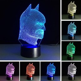 $enCountryForm.capitalKeyWord Australia - Cool Christmas Gifts Batman Superman 3D Acrylic LED Lantern Night Light Touch Desk Table Lamp Glow Action Figure Toy For Kids