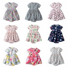 Wholesale Cute baby rompers floral Pineapple printed toddler one piece jumpsuit baby girl lovely clothing in summer many styles
