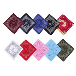 $enCountryForm.capitalKeyWord Australia - 55cm*55cm Unisex Cotton Blend Hip Hop Bandana Headwear Hair Band Scarf Neck Wrist Wrap Band Magic Head Square Scarf