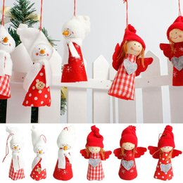 doll girl Australia - Cute Christmas Angel Girl Pendant Christmas Tree Home Party Decoration Xmas Cute Doll Party Decoration