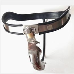 Chinese  Male Chastity Belts Model-Y Adjustable Curve Waist Belt Stainless Steel Chastity Pants Penis Restraint Cage Device Sex Toys for Men manufacturers