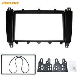 stereo adaptor NZ - FEELDO Car 2Din DVD CD Radio Stereo Fascia Panel Frame Adaptor Fitting Kit For Mercedes-Benz C Class Install Tirm #4400