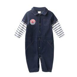 4d4e76fe62b5 New Denim baby romper newborn baby boy clothes long sleeve Boy Rompers  Newborn Romper Infant Jumpsuit boys One Piece Clothing A3706