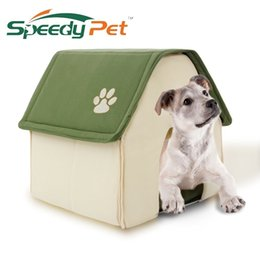 Kennel products online shopping - 2017 New Product Dog Bed Soft Dog Kennel Dog House For Pets Cat Puppy Home Shape Animals House Products For Animal Removable D19011506