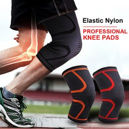 Elastic Elbow Brace Australia - Cycling Knee Support Sports Safety Brace Elastic Nylon Compression Basketball Football Knee Pads Sleeve Volleyball Fitness Running Protector
