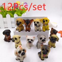$enCountryForm.capitalKeyWord Australia - 12Pcs 3D Resin Cute Dogs Key Chain For Lovers Animal Keyrings Key Rings Holder For Women Girls Bag Charms Keychains