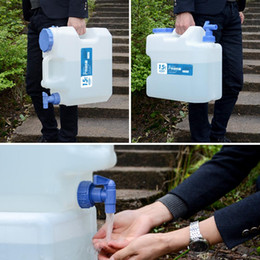$enCountryForm.capitalKeyWord Australia - 15L Drinking Water Storage Container Portable Water Bucket Carrier Jug with Tap for Survival Hiking BBQ Self-Driving Tour