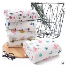 $enCountryForm.capitalKeyWord Australia - Baby Blanket for Boys Girls Giraffe Flamingo Kids Bed Crib Swaddle Blanket Super Soft Warm 6 Layers Animal Cotton Kids Towels Free Shipping