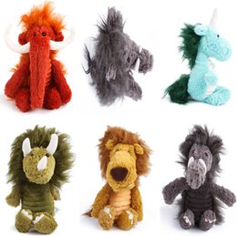 giraffe toys Canada - Dog Chew Squeak Toys Giraffe Fleece Rope Interative Toy Animals Plush Puppy Lion For Pet Dogs Cat Chew Squeaking Toy