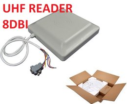 Access Control Fast Deliver 860-960mhz Rs232 Rs485 Antenna Integrated 6m Long Distance Parking Gate Uhf Rfid Reader Control Card Readers