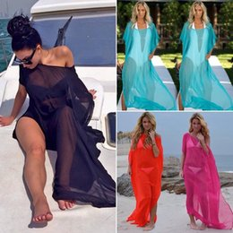 $enCountryForm.capitalKeyWord Australia - 2019 Quick Women Sexy Bikini Cover Up Swimsuit Swimwear Beach Shirt Dress Bathing Suit Chiffon S M L XL XXL For Dropshipping