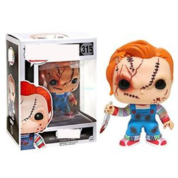 $enCountryForm.capitalKeyWord NZ - Q Version Creative POP Child's Play CHUCKY Bride of Chucky Birthday Gift Art Craft Exquisite PVC Action Collectible Model Toy 10CM BOX G488