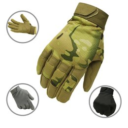 black yellow bicycle gloves Australia - Tactical Gloves Army Military Combat Airsoft Bicycle Outdoor Cycling Shooting Paintball Hunting Multicam Camo Full Finger Gloves