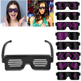 wholesale sunglasses display UK - HOT Led light glasses Judy equipment LED display Multi-function display glasses Birthday party Halloween Christmas sunglasses gifts
