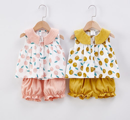 $enCountryForm.capitalKeyWord Australia - Kids Summer Clothing Sets 2019 New Brand Girls Two Piece Sleeveless Tops Shorts Girl Child Cute Printed Style Clothes Girls Summer Clothes