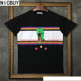 $enCountryForm.capitalKeyWord Australia - 2017 summer tide brand europe tag clothing men stripe 3D dinosaur star print t-shirt women t shirt saint tee tops tshirt hip hop