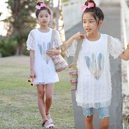 $enCountryForm.capitalKeyWord Australia - New Baby 2019 T-shirt Kids Summer Shirt Girls Mesh Patchwork T-shirt Dress Girls Toddler Tops Fashion Lace,#5032