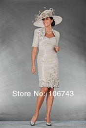 Mother Bride Taffeta Suits Australia - fast shipping in stock cheap handmade flowers discount half sleeves ivory mother of the bride dresses with jacket