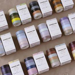 $enCountryForm.capitalKeyWord Australia - 2019 6 Pcs Box Vintage color concise washi tape DIY decoration scrapbooking planner masking tape adhesive tape label sticker 2016