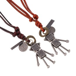 $enCountryForm.capitalKeyWord NZ - European and American jewelry retro long robot leather necklace ladies necklace sweater chain leather necklace jewelry wholesale
