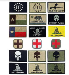 $enCountryForm.capitalKeyWord Australia - Punisher Crusader 3D Embroidered Backpack Patches Cross Army Badge Texas Flag Patch Molon Labe Tactical Appliques Emblem Badges