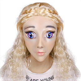 tops school girls UK - Top Grade Girl Luxury Custom Makeup Calaxy Baby DMS Mask Miss Rose! Silicone Sexy Female Crossdress Mask Corssdresser Doll Mask