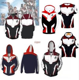 Zipper 3d Australia - The Avengers 4 Endgame Quantum Realm Cosplay Fashion Costume Hoodies Men Women Casual Zipper 3D Hoodie Sweatshirt Jacket Avengers
