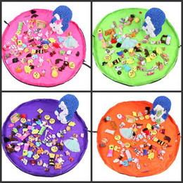 Mat toys online shopping - Baby Toy Storage Bag Blue Pink Purple Extra Large Size Cushion cm Outdoor Picnic Portable Mat Hot Sale drD1