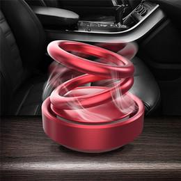 $enCountryForm.capitalKeyWord Australia - Solar Suspension Double Ring Rotating Car Air Freshener Car Perfume Aluminum Alloy Shell Interior Decoration