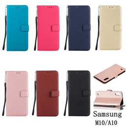 Sheep Skin Wallets NZ - For Samsung Galaxy M10 A10 A20 A30 A50 M20 A40 A70 Strap Sheep Flip Wallet Leather Case Stand ID Card Money Skin Cover Colorful Luxury 50pcs