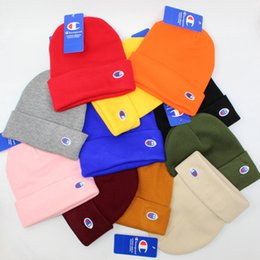 Golf c online shopping - CP Beanies Men Women Autumn Winter Champ Beanies C logo Embroidery Beanies Knitted Caps Men Women Sport Hats Hight Quality With Tag
