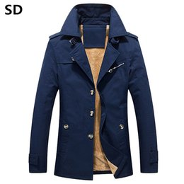 british army clothing Australia - Men Jackets and Coats Casual Simple British Style Men's Jacket Winter Windbreaker Male Overcoat Thick Army Outdoors Clothes 1095