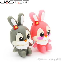 8gb Flash Drive Free Shipping Australia - Top sell lovely rabbit usb flash drive 8GB 16GB 32GB usb flash hang decorations memory stick pen drive for girl free shipping
