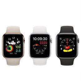 Bluetooth Smart Watch Huawei Australia - New Magnetic Adsorption Wireless Charging Goophones Watch 4 Smart 44mm Bluetooth 4.0 Wearable Smartwatch for iPhone X huawei Goophone iwatch