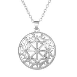 $enCountryForm.capitalKeyWord Australia - Vintage Slavic Rune Round Pendant Viking Slavic Symbol Amulet Men Runes Necklace