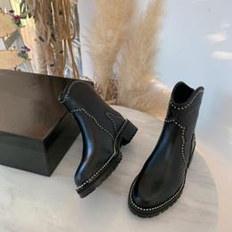 Ingrosso Martin stivali e le scarpe delle donne 2019 nuovo progettista autunno nuovo stile britannico donne traspirante con web celebrity stivaletti invernali B103208D