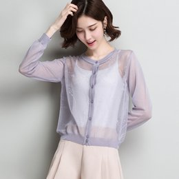 $enCountryForm.capitalKeyWord Australia - Ladies See Through Knitted Cardigan Coat Spring & Summer 2019 Casual Thin Hollow Out Knitwear