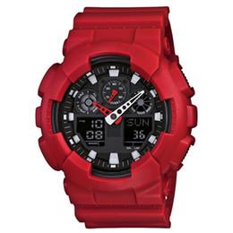 Large bLue box online shopping - 2020 Men G100 large sports watch LED waterproof climbing digital men s shock watch full pointer work box automatic lighting