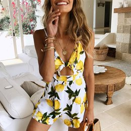 8d59e6b1deb9 Bohemian style jumpsuit online shopping - Bohemian Print Jumpsuit Women Sexy  Sleeveless Sling Romper Female Elasticity