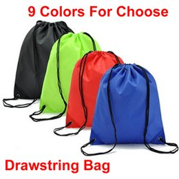 2019 9 Colors Drawstring Backpacks Gym Bags 210D Waterproof Canvas Nylon  Storage Clothing Shoes Portable String Bag for Travel Sports M33F 2d7ce58dca3fa
