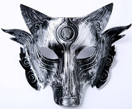 $enCountryForm.capitalKeyWord Australia - Halloween Decorations Retro Party Wolf Mask Horror funny Masquerade Masks full face mask Party Supplies Gold Silver Optional 20pcs K3659