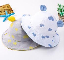 $enCountryForm.capitalKeyWord Australia - New baby hat, cotton cloth rabbit ear hat, spring and summer Princess, child fisherman hat, baby sunhat WL376