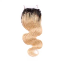 $enCountryForm.capitalKeyWord UK - LEDON 4x4 Top Lace Closure, Body Wave, BW, Color 1b 27, Density 130%, 100%Remy Human Hair Extentions, 1 Piece