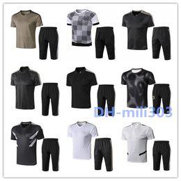 Polo shirt suits online shopping - 2019 polo Short sleeve pants soccer training suit survetement best quality pants soccer Short sleeve Football shirt tracksuit