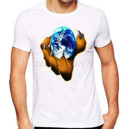 $enCountryForm.capitalKeyWord Australia - Globe t shirt The earth paw short sleeve tees Claw animal unisex gown tops Fadeless print clothing Pure color colorfast modal Tshirt